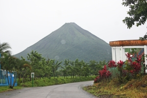 Photo taken from downtown La Fortuna
