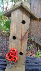 Orange Daisy Bird House