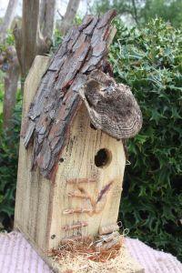 Pine Bark Bird House